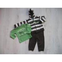 Baby Club C&A 3 delige bruin/ groene joggingpak mt 86