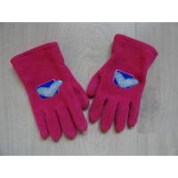 Barbie fuchsia fleece handschoenen 4-6 jr