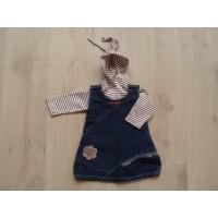 Baby Blu 2 dlg, jeansjurkje +longsleeve mt 68
