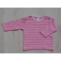 Hema roze gestreepte longsleeve mt 68