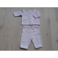 H&M 2dlg lichtroze tricot set mt 62