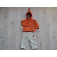 Baby Club 2 dlg set oranje/ beige mt 80