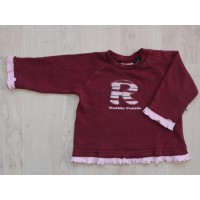 "Villa Happ bordeaux rode sweater ""R"" mt 80"