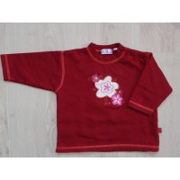 "Wellus bordeaux sweater ""bloem"" mt 74"