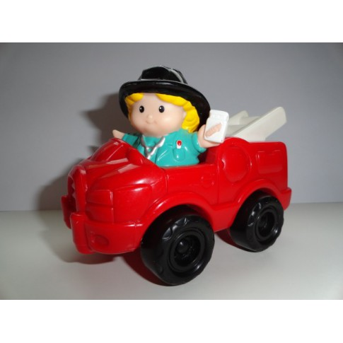 Fisher Price, Little People, brandweerauto