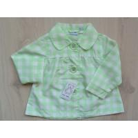 Blue Seven vintage zomerjas, groen/ wit mt 80