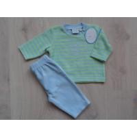 Nieuw!! Feetje badstof pyjama l.groen/ l.blauw mt 56