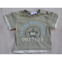 "Prénatal khaki t-shirt ""travel document"" mt 62"
