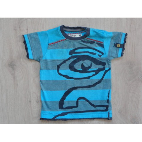 Name it t shirt lichtblauw velours print maat 68 for Print name on shirt