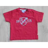 "BFC rood t-shirt ""1973"" mt 68"