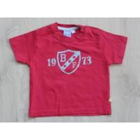 """BFC rood t-shirt """"1973"""" mt 68"""