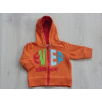 "Hema oranje sweatvest ""ever since"" mt 68"