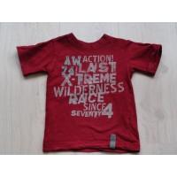 AKMO Unlimited bordeauxrood t-shirt mt 92-98