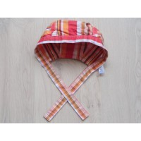 Hema, oranje gestreepte bandana one size