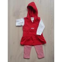 Baby Girl 3dlg rood/witte set mt 74