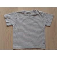 Blablabla blauw/wit/geel gestreept t-shirt mt 74