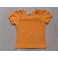 "Babies oranje T-shirt ""hartje"" mt 74"