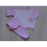 """Pyjama roze/ wit """"bloemen, vlinders"""" mt 86"""
