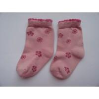 """Roze sokjes """"bloemen"""" mt 16 - 18"""