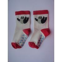 """Wit/ rode sokken """"zeehond"""" mt 16"""