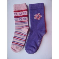 "2 Paar sokken "" paars, roze, rood"" mt 86-92"