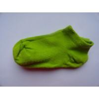 Limegroene sneaker-/ enkelsokken mt 21