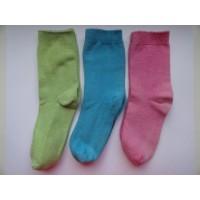 """3 Paar sokken """"lime, blauw en roze"""" mt 21"""
