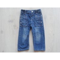 """Baby Blue spijkerbroek """"blauwe stiksels"""" mt 86"""