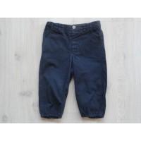 """H&M navyblauwe broek """"elastische pijpen"""" mt 86"""