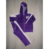 "Velours joggingpak violet ""67"" mt 98-104"