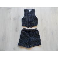 Kiddy Girl 2 dlg krijtstreep set mt 110