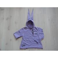 Kiddy Girl gestreepte A-lijn longsleeve paars/lila mt 110