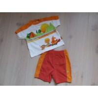 Baby Club oranje/ wit zomer set mt 68