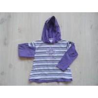 Kiddy Girl paars/ wit gestreepte hooded longsleeve mt 104