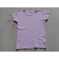"""Lichtroze T-shirt """"strikje"""" mt 140-146"""