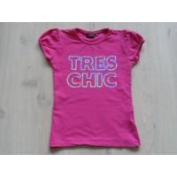 "D-Zine fuchsia T-shirt ""tres chic"" mt 152 - 158"