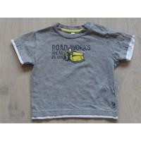 """T-shirt grijs melee """"bulldozer"""" mt 80"""
