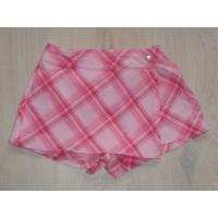 H&M LOGG  broek kort roze geruit overslag maat 104