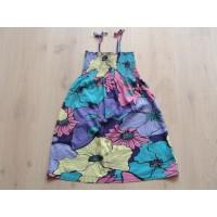 "H&M gebloemd jurkje ""violet, paars, lila, roze, aqua"" mt 146 - 152"