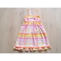 H&M LOGG roze, geel, oranje geruite jurk mt 152