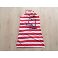 Creem Girl rood/ wit gestreepte zomerjurk mt 158 - 164