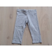 """H&M grijs melée legging """"kort"""" mt 134"""