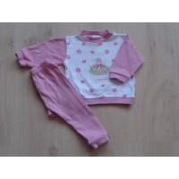 """Feetje roze/ witte pyjama """"kikkerprins"""" mt 62"""