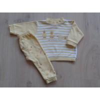 """Feetje geel/ witte pyjama """"eendjes"""" mt 62"""