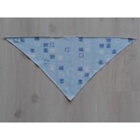 "Mexx lichtblauwe bandana ""vierkantjes"""