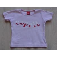 """Esprit mini roze T-shirt """"rood/witte tekst"""" mt 92-98"""