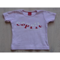 Esprit mini T-shirt roze tekst maat 92-98