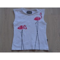 "Eager Beaver wit t-shirt ""Flamingo's"" mt 92"