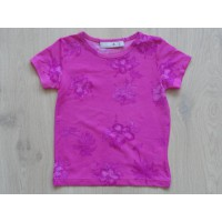 "Dubster roze T-shirt ""palmboom, hibiscus"" mt 92"