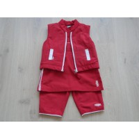 Noppies set 3 dlg rood maat 86